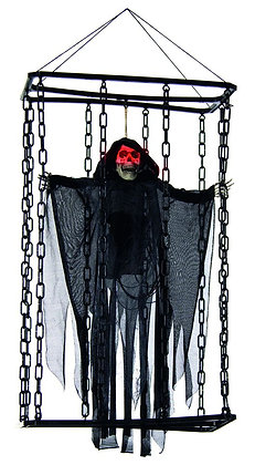 Animated Caged Reaper Black 70cm