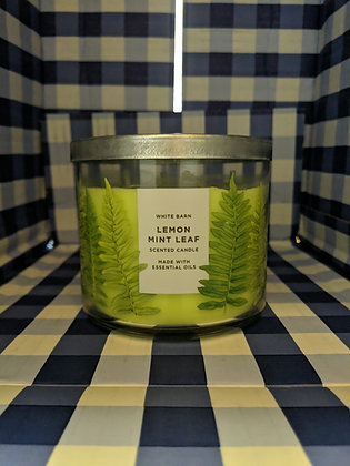 Lemon mint leaf 3-wick candle