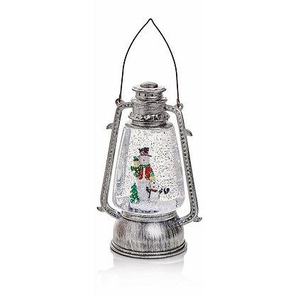 Hurricane Water Spinner Lantern Snowman