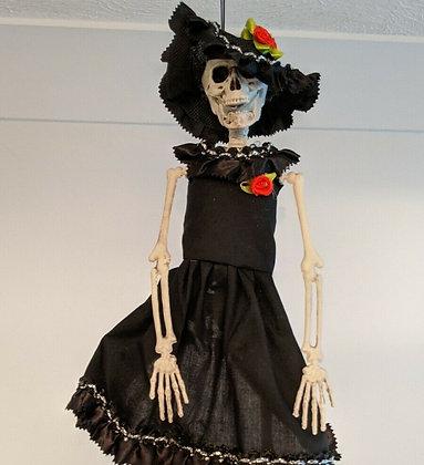 Day Of The Dead Hanging Skeleton Bride
