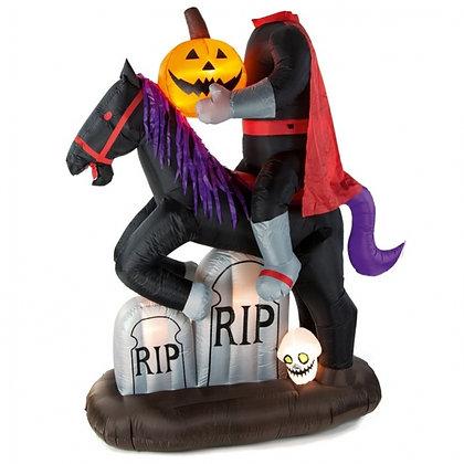 6.5ft Inflatable Headless Halloween Horseman