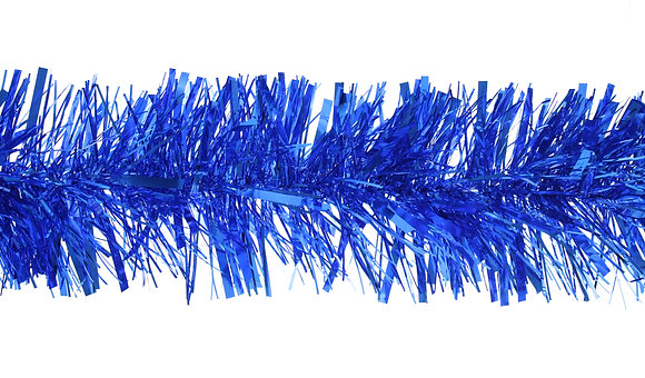 Royal blue tinsel
