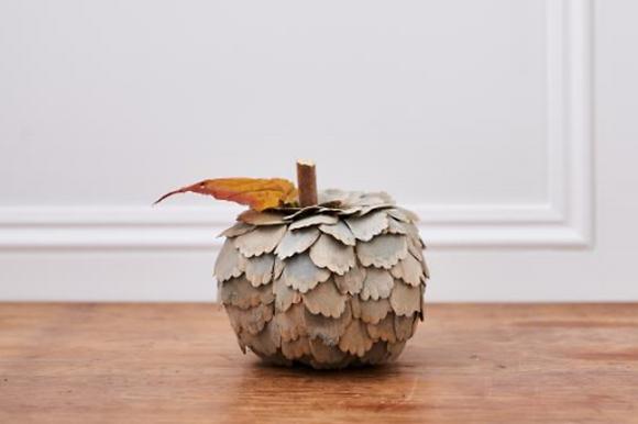 Handmade Small Grey Pumpkin
