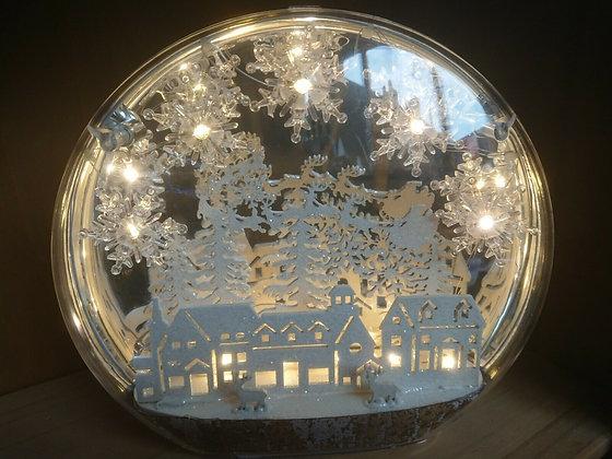 Christmas Globe Winter Scene House