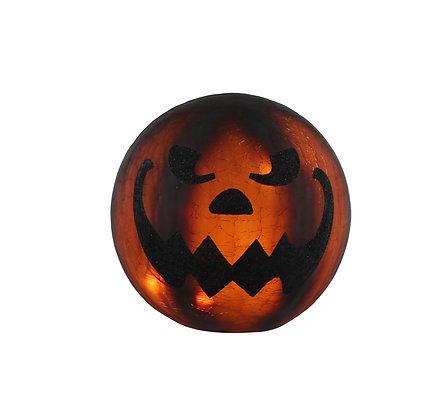 20cm Lit Pumpkin Glass Ball
