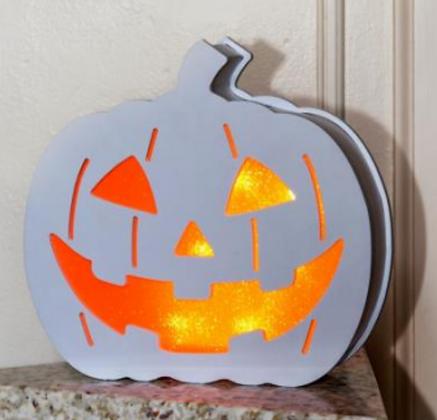 Illuminated Happy Halloween  Pumpkin