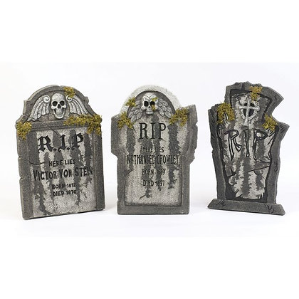 Tombstones With Moss