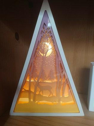 Lit Deer Diorama Triangular