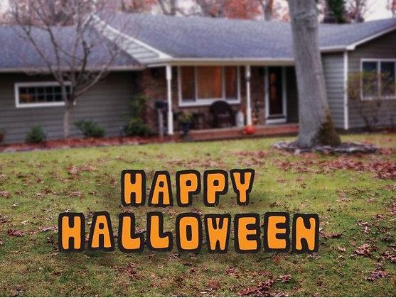 Letter Yard Décor - Happy Halloween