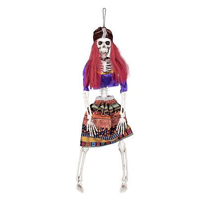 Gypsy Skeleton Hanging Prop