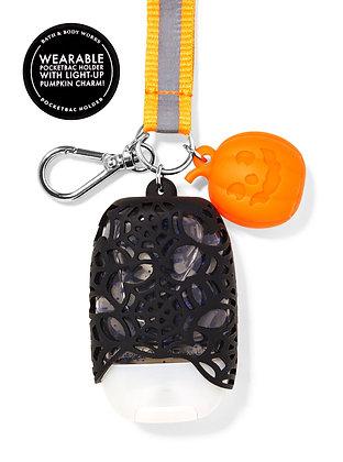 Spider Web Lanyard Light-up Pocketbac Holder