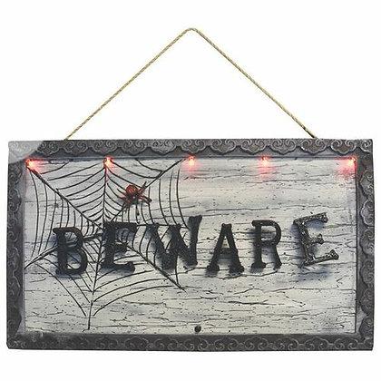 Animated Beware Sign