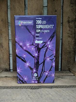 200 LED Purple Supabrights
