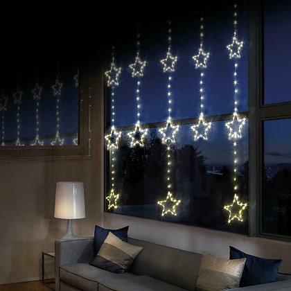 Twinkling Star Curtain Light - Warm White