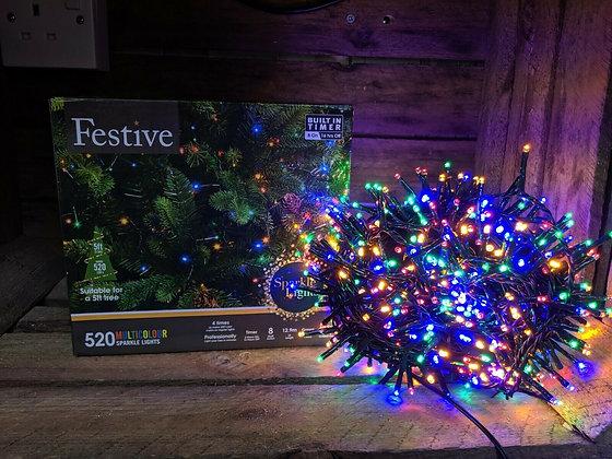 520 Festive Coloured LED Lights