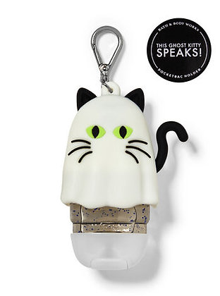 Noise-making Ghost Kitty Pocketbac Holder