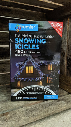480 Snowing Icicles - Blue & White
