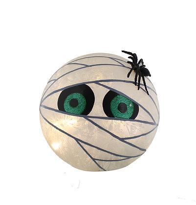 20cm Lit Mummy Glass Ball