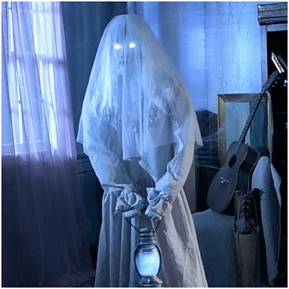 Ghostly Lady In Grey Animated Prop