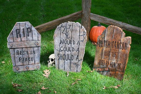 Wood-Effect Tombstone