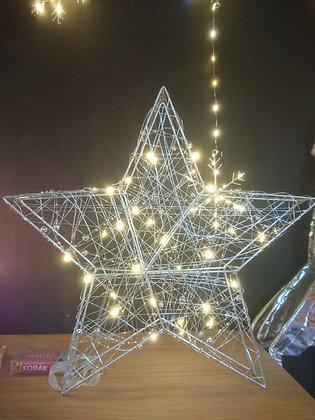 38cm Lit Wire Star