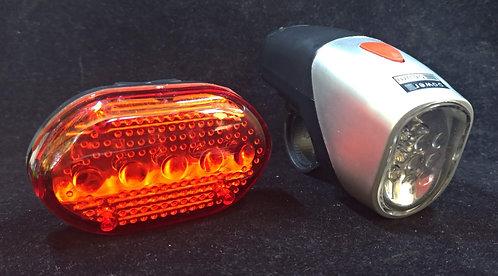 conjunto luzes bicicleta LED