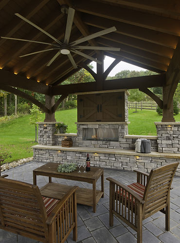 Covered Outdoor Fire Place
