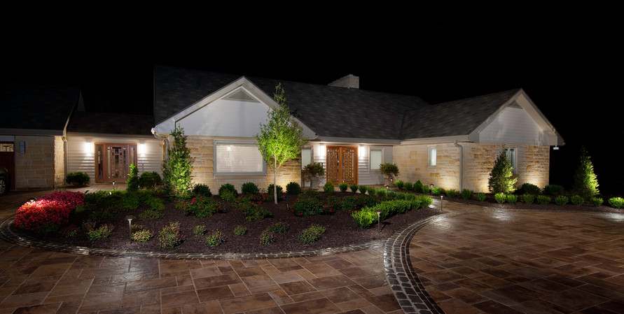 Paver Driveway and Landscape Lighting