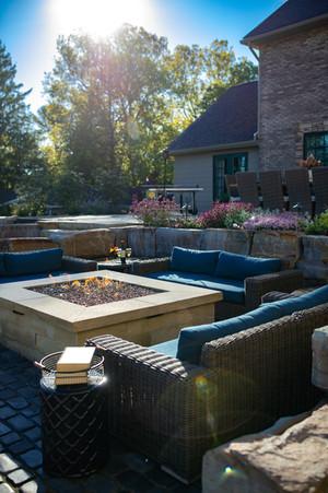 Outdoor Furniture around Gas Fire Pit