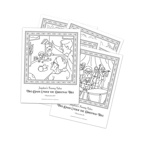 Two Dads: Six Colouring Sheets [Printable]