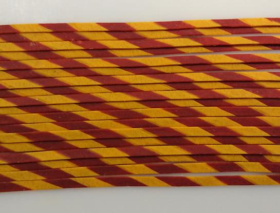 Creative - transversely striped tagliatelle