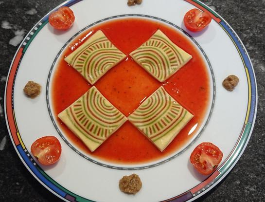 Creative - Ravioli with cicle elements