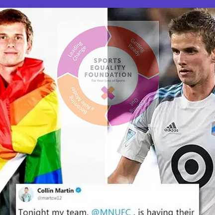 Out soccer player Collin Martin joins gay college soccer captain in a TikTok conversation