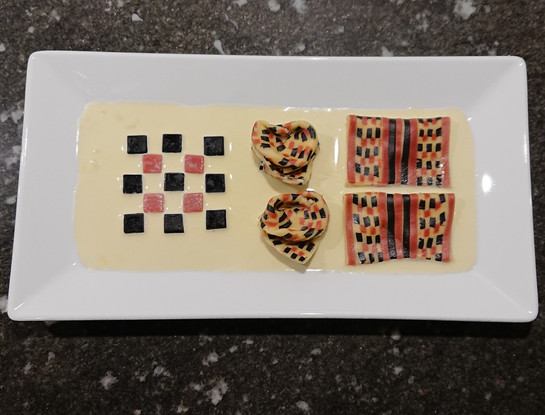 Creative - Pasta with repeating pattern