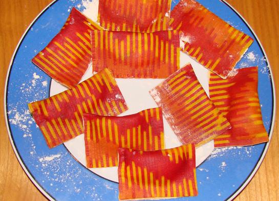 Ravioli red pattern