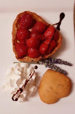Tarte fraises lavandes