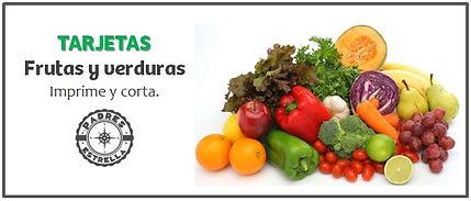 Psicólogos DF Tarjetas didácticas frutas y verduras Padres Estrella Inc.