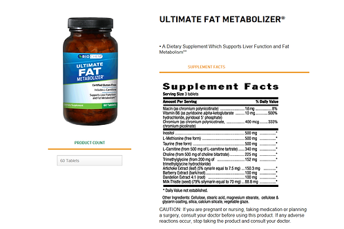 BIO-CHEM Ultimate Fat Metabolizer