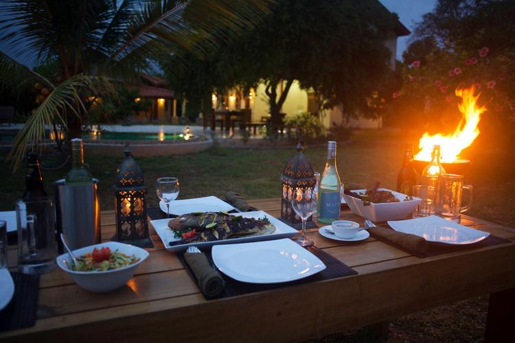 Evening BBQ under the stars