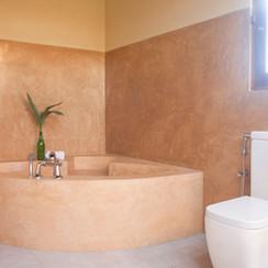 Blue room bathtub