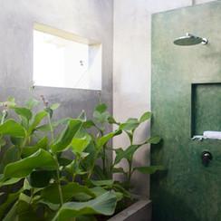 Bunk room outdoor shower