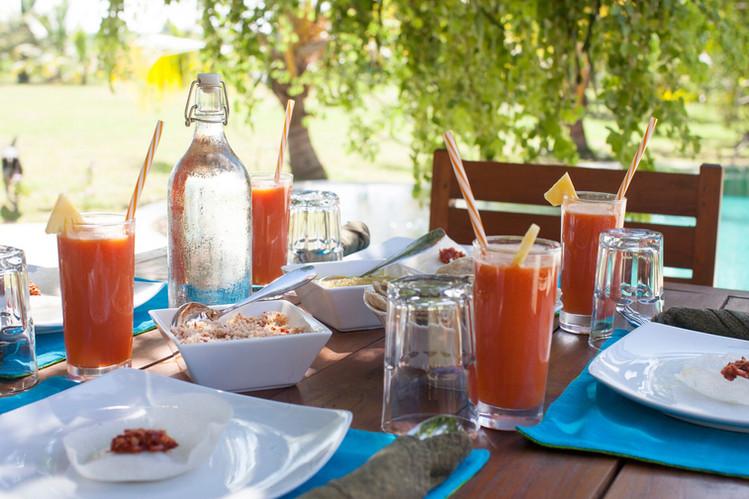 Colorful breakfast