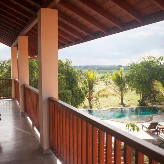 Upper veranda