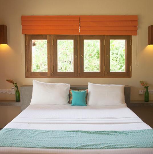 Orange room bed