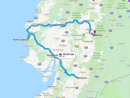 Puerto Lopez et la route : du 21 au 23 Mars 2019