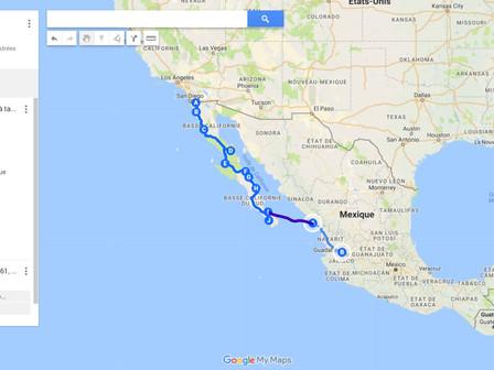 Arrivée sur le continent Mexicain : 4 et 5 février 2018