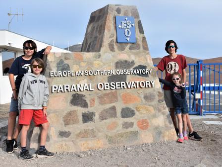 L'Observatoire de Paranal: Samedi 9 Février 2019