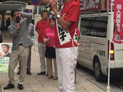 参院選終盤…三原じゅん子議員が市内遊説