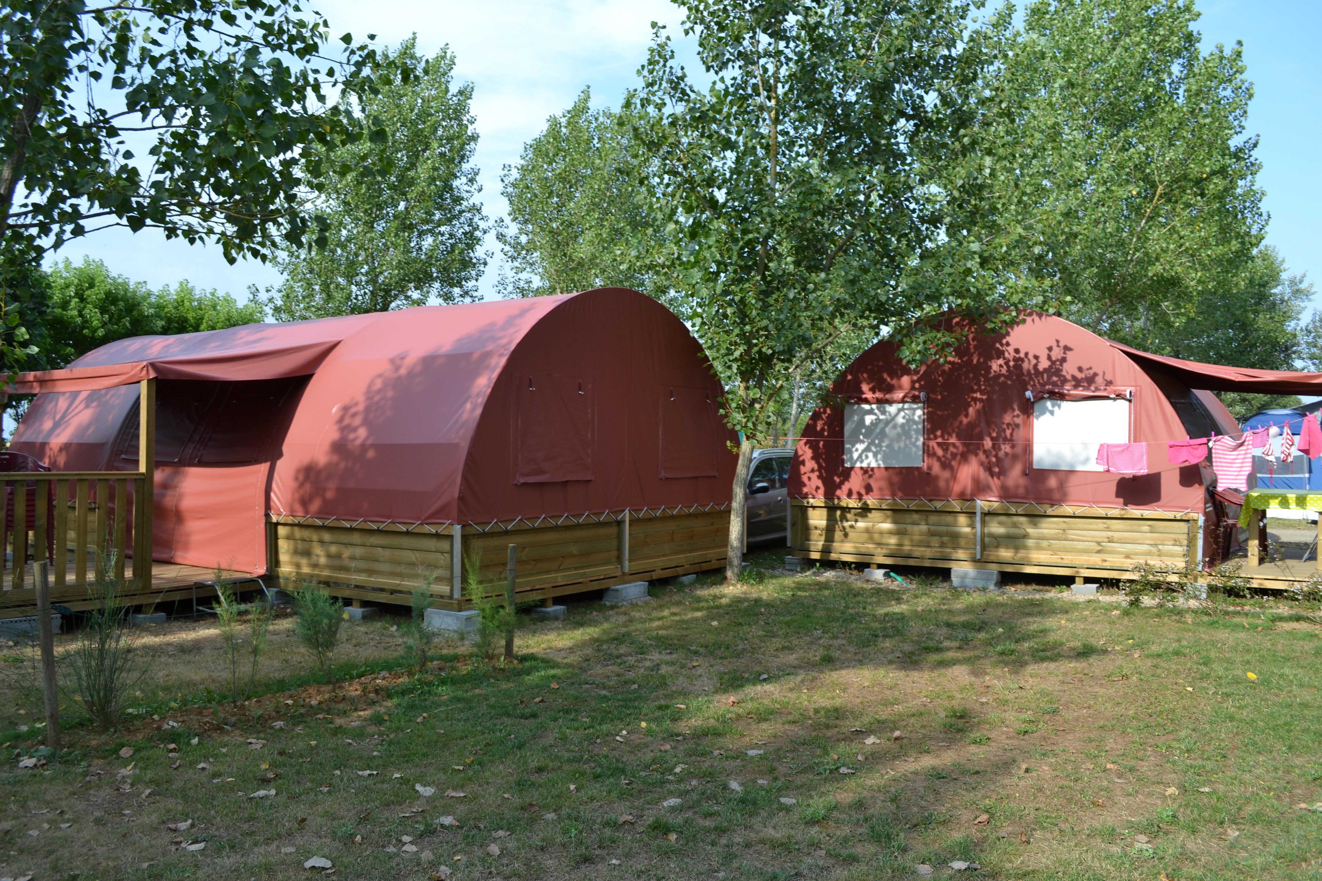 Location bungalows toilés