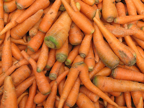 Large sack of carrots